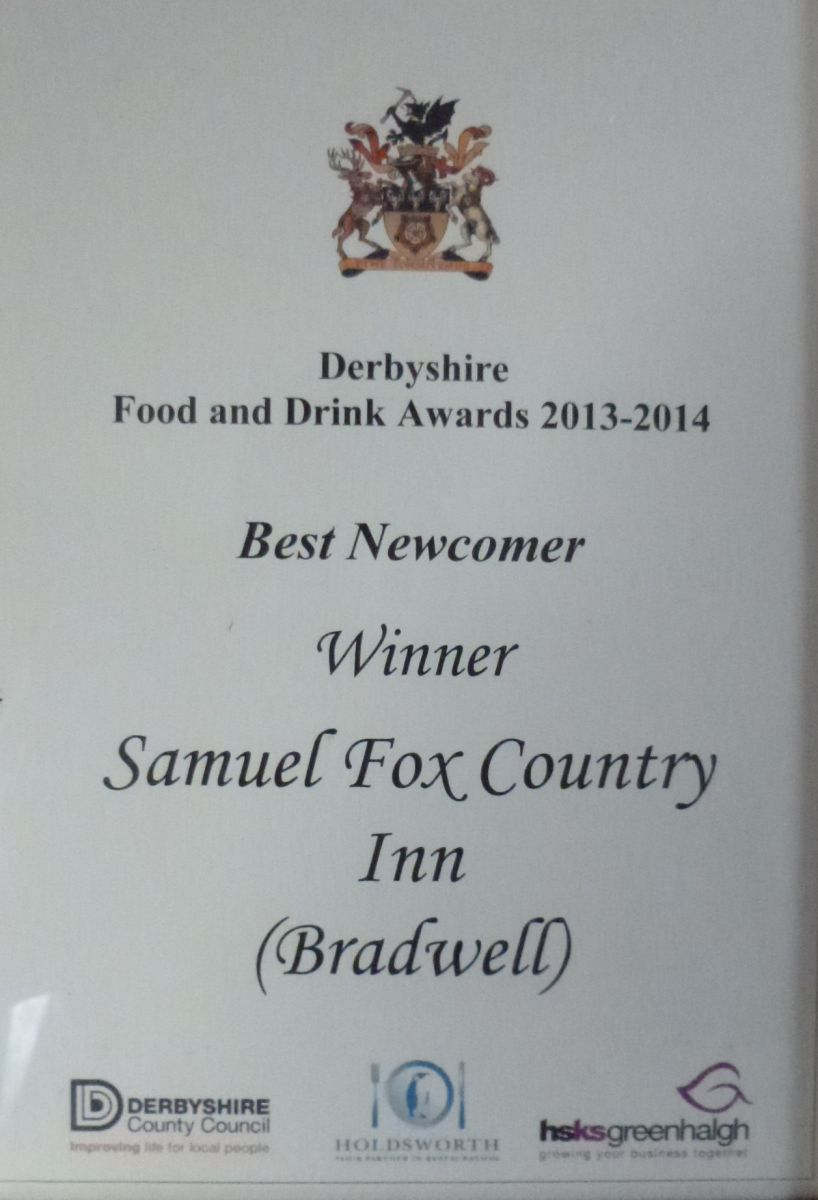 Best newcomer in Derbyshire Food and Drink awards