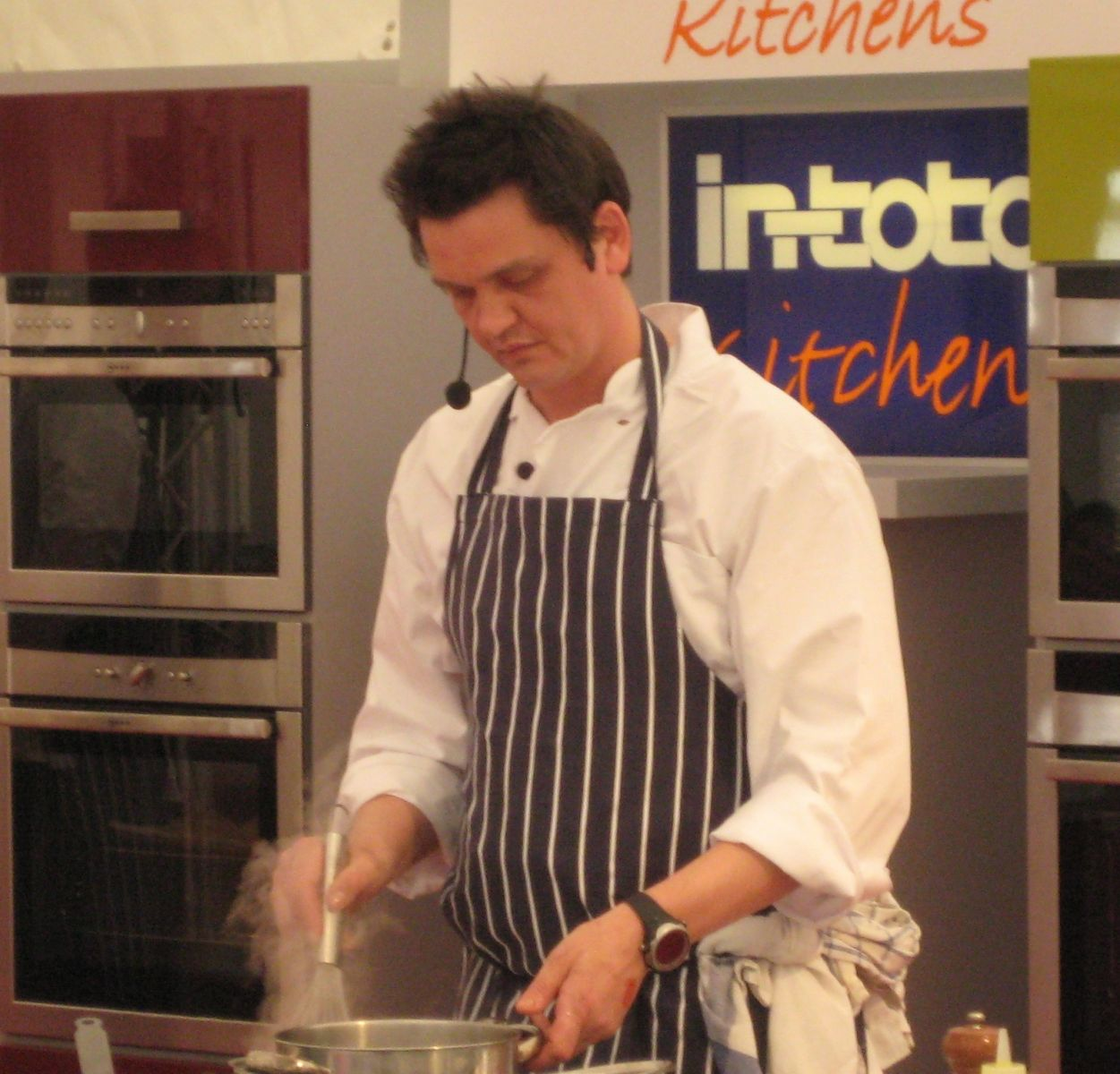 James at the South West Food Festival cookery theatre