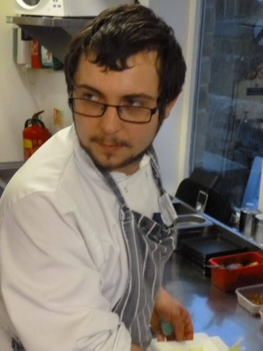 Andy Lynham, our second year apprentice chef