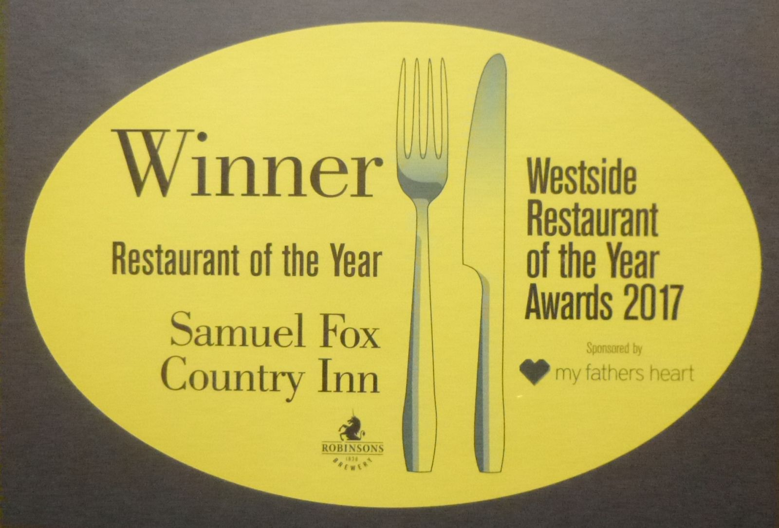 Sheffield Westside Restaurant of the Year 2017