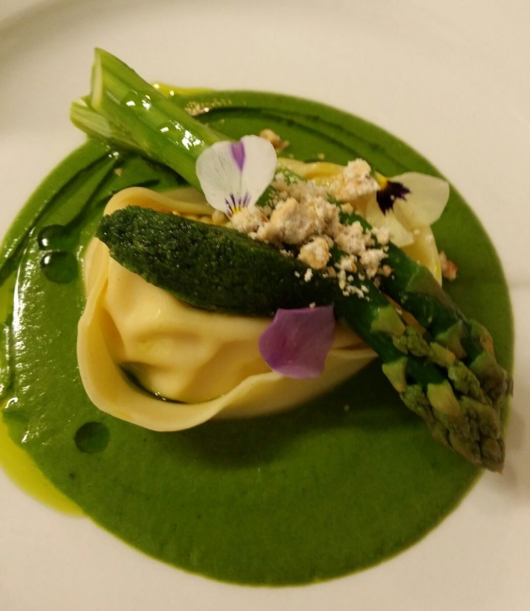 Pretty as a picture vegetarian dish on the spring menu